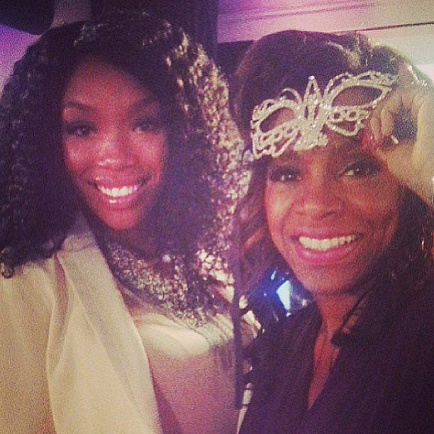 Brandy reunited with her Moesha onscreen stepmom, Sheryl Lee Ralph. Source: Instagram user 4everbrandy