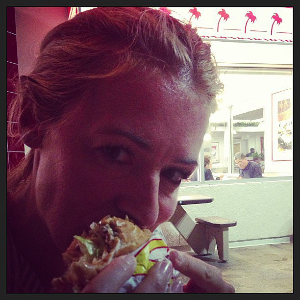 Cat Deeley indulged in a late-night In-N-Out burger. Source: Instagram user catdeeley