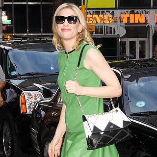 Cate Blanchett Wearing Green Dress in NYC