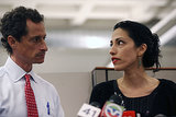 Huma spoke during a press conference on July 23, 2013 in support of her husband.