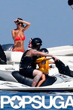 Nicole Richie snapped photos of her husband, Joel Madden, and their son, Sparrow, riding a Jet Ski.