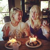 Julianne Hough celebrated her birthday by eating pancakes with her sister. Source: Instagram user juleshough