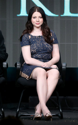 Michelle Trachtenberg attended the panel for Killing Kennedy.
