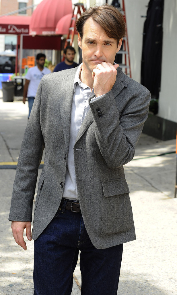 Will Forte was on the NYC set of Squirrels to the Nuts on Wednesday.