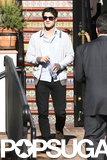 Darren Criss attended Cory Monteith's memorial celebration in LA on Thursday.