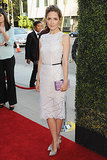 At the LA Blue Jasmine premiere, Rose Byrne paired her belted Christopher Kane cocktail dress with Casadei heels.