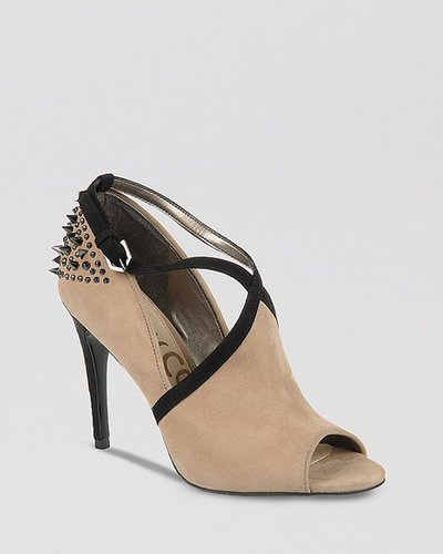 Sam Edelman Peep Toe Booties - Adrienne High Heel