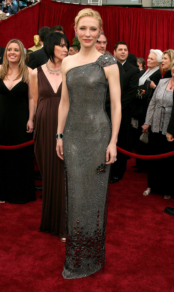 The armor-like Armani Privé gown Cate chose for the 79th Annual Academy Awards helped land her on our best-dressed list.