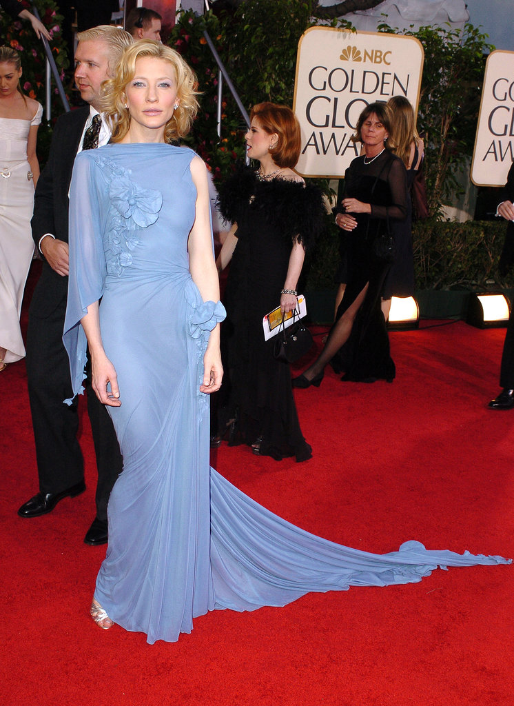 Cate Blanchett in a Periwinkle Gown at the 2005 Golden Globes