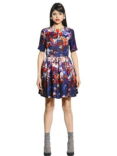 Printed Silk Gazar Dress