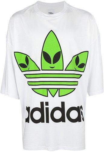 Adidas Originals By Jeremy Scott oversize alien logo t-shirt