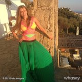Sofia Vergara posed in her swimsuit and a skirt. Source: Sofia Vergara on WhoSay