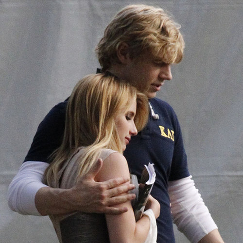 Emma Roberts and Evan Peters Filming AHS Season 3 | Photos