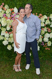 Jerry Seinfeld gave wife Jessica Seinfeld a kiss.