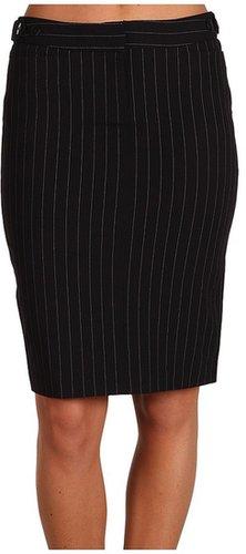 KAMALIKULTURE - Pencil Skirt (Black Pinstripe) - Apparel