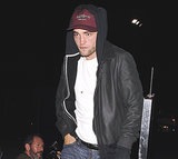 Robert Pattinson made his way out of the concert.