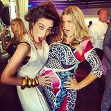 Fergie shared a moment with artist Ladyf*g at her shower. Source: Instagram user ladyf*g