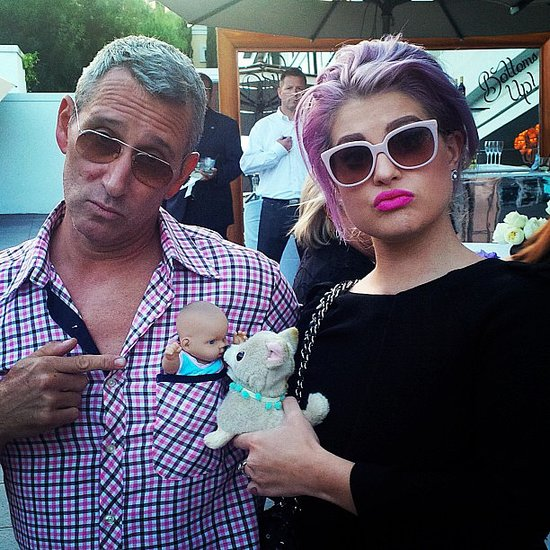 Kelly Osbourne and Adam Shankman played around at the party. Source: Instagram user adamshankman