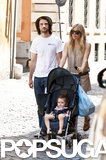 Sienna Miller and Tom Sturridge pushed Marlowe in her stroller around Rome.