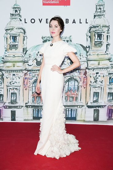 Outside the Love Ball, Ulyana Sergeenko was a vision in white.