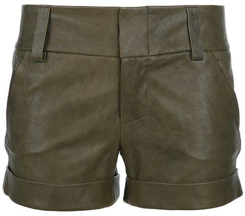 Alice+Olivia cuffed leather shorts
