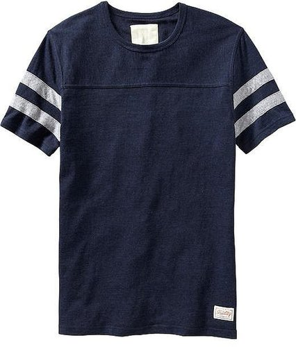 Men's Pieced-Stripe Football Tees
