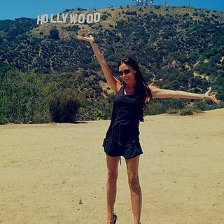 Victoria Beckham With the Hollywood Sign