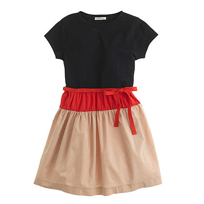 Girls' Tee Dress in Colorblock ($48)