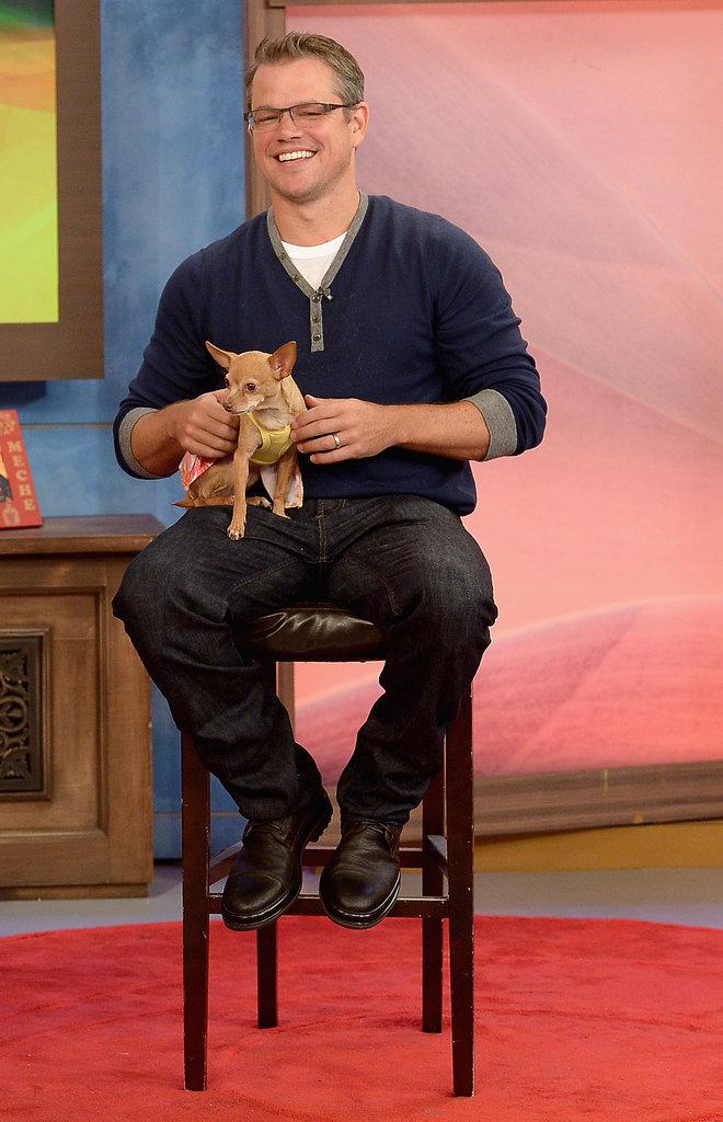 Matt Damon appeared on Despierta America to promote his new film in July 2013.