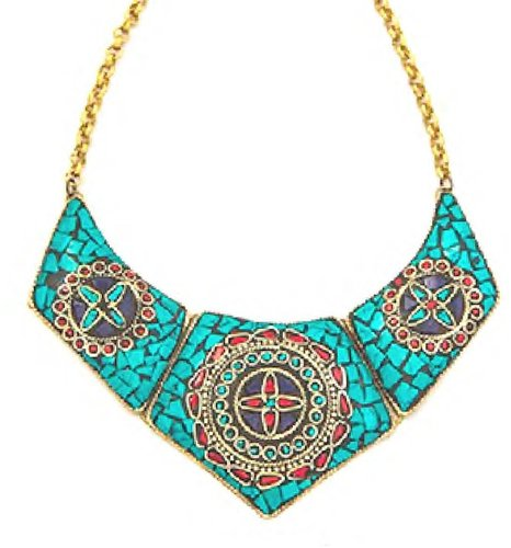 Natalie B. Jewelry Natalie B Chevry Necklace in Turquoise