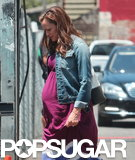 Jennifer Garner wore a fake baby bump on the set of her latest film, Imagine, in LA.