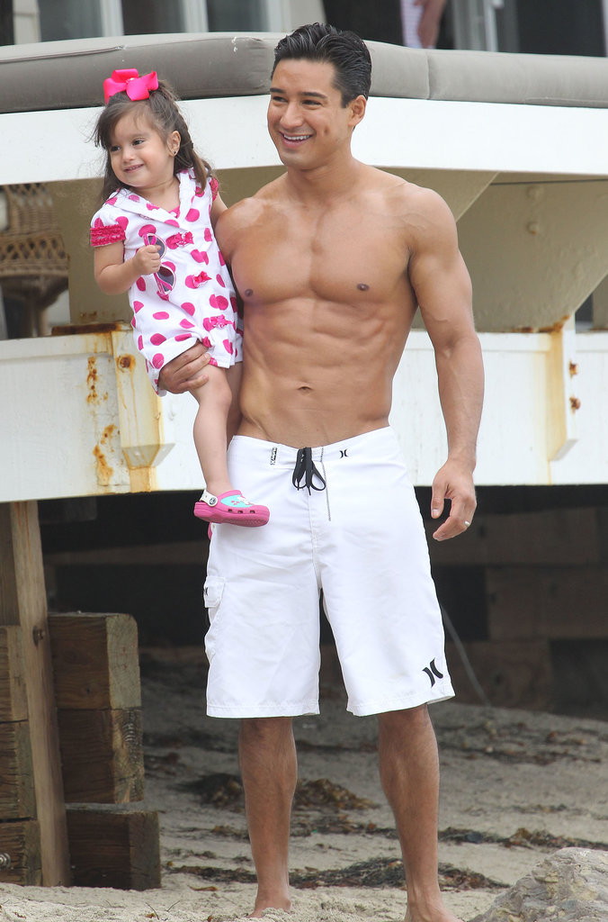 Mario Lopez hit the beach with his daughter, Gia, in Malibu, CA.
