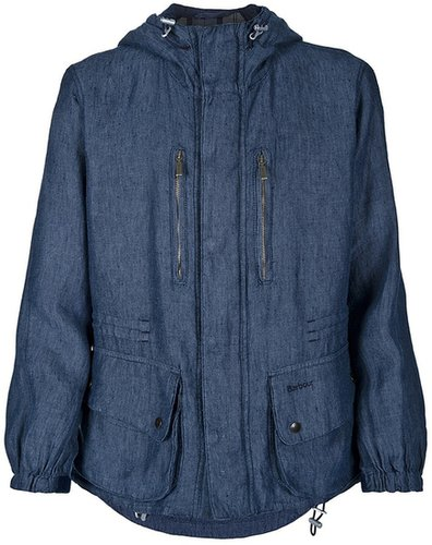 Barbour hooded denim jacket