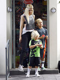 Gwen Stefani took her sons, Kingston and Zuma, to the park in London on Sunday.