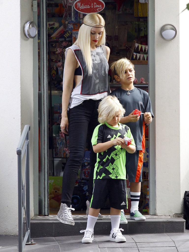 Gwen Stefani took her sons, Kingston and Zuma, to the park in London.