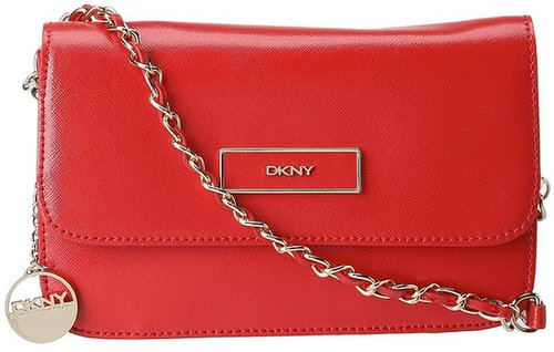 DKNY - Small Flap Crossbody (Red) - Bags and Luggage