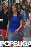 Allison Williams filmed scenes in NYC on Tuesday for the upcoming season of Girls.