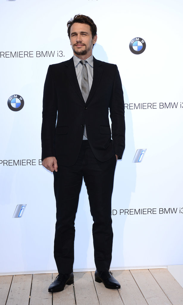 James Franco looked dapper in a suit.