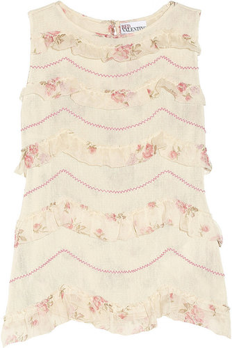 RED Valentino Ruffled cotton top