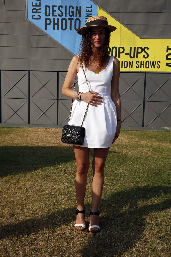 What's more quintessentially summery than an LWD and a straw hat?