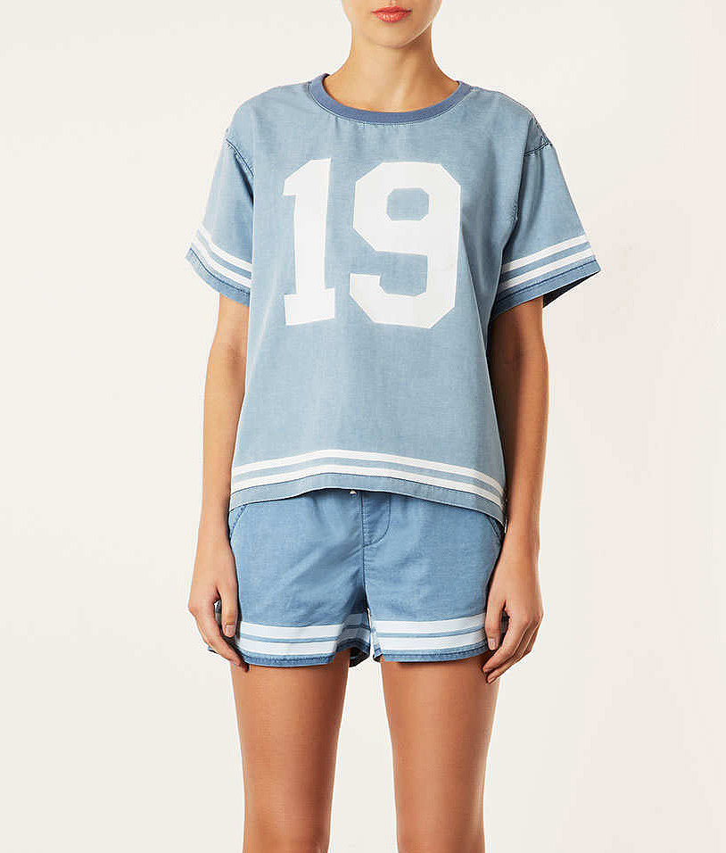 Topshop's pajama top ($68 for set) might look cute curled up on your bed, but imagine how chic it'll be paired with a tailored black pencil skirt.