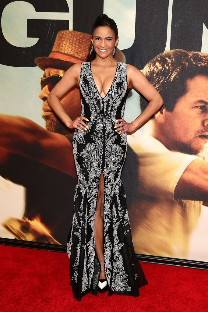 Paula Patton posed on the red carpet at the 2 Guns premiere in NYC.
