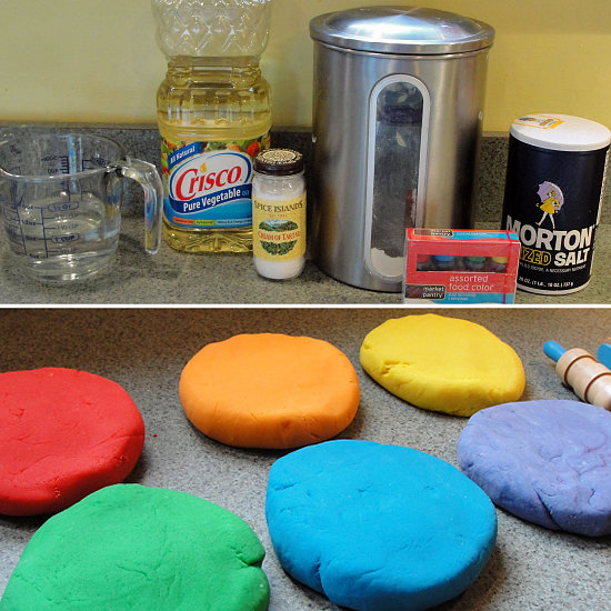 Make Your Own Multicolored Play Dough