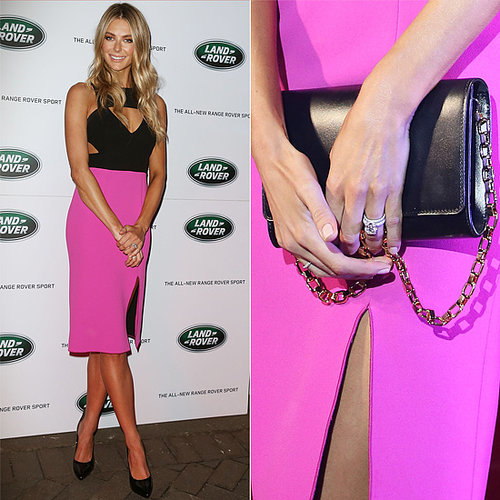 Jennifer Hawkins Steps Out in Hot-Pink Yeojin Bae