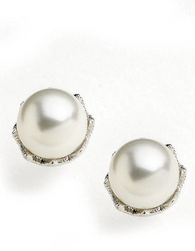 NADRI Faux Pearl Stud Earrings