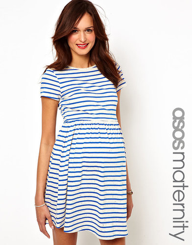 ASOS Maternity Skater Dress in Neppi Stripe