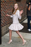 Amanda Seyfried made a stop by the Late Show With David Letterman in NYC.