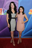 Parenthood's mother-daughter duo Lauren Graham and Mae Whitman posed in their respective sleek sheath dresses.