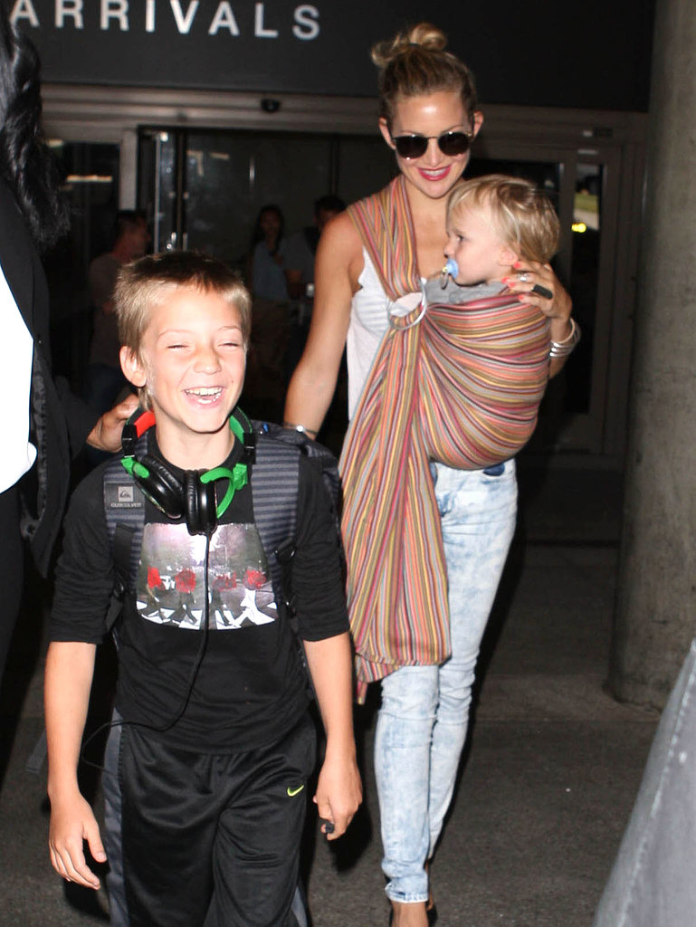 Kate Hudson shared a laugh with her boys at LAX.