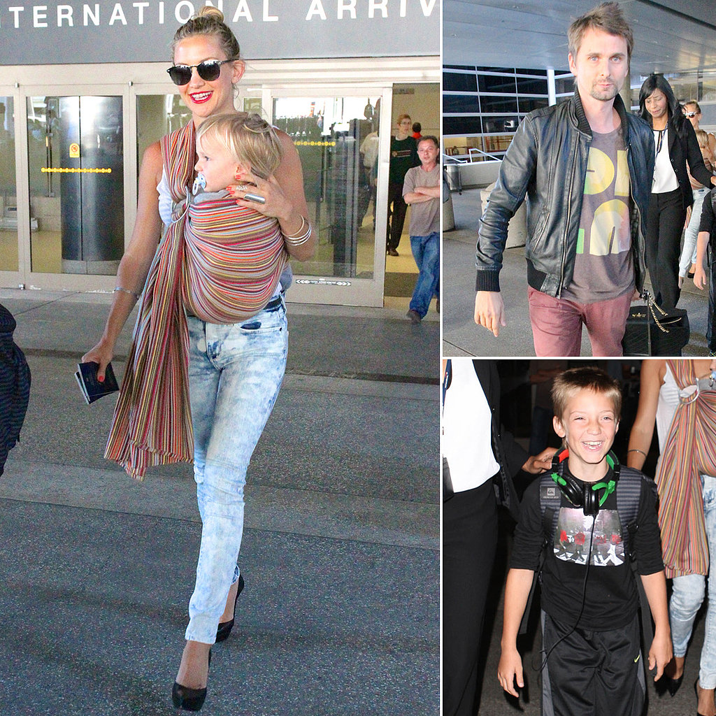 "Kate Hudson Arrives in LA With the ""Best Part of Her Day"" — Her Boys!"